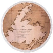 Cook: Newfoundland, 1763 Round Beach Towel