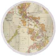 Map: Philippines, 1905 Round Beach Towel