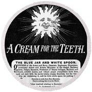 Fonweiss Toothpaste, 1887 Round Beach Towel