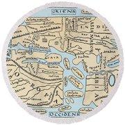 World Map 2nd Century Round Beach Towel