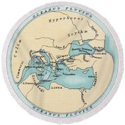 Voyage Of The Argonauts Round Beach Towel