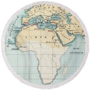 Map: Phoenician Empire Round Beach Towel