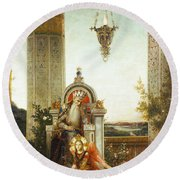 Moreau: King David Round Beach Towel