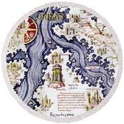 Marco Polo (1254-1324) Round Beach Towel