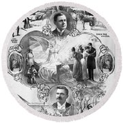 Uncle Tom's Cabin, C1899 Round Beach Towel