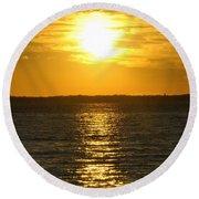 013 Sunset 16mar16 Round Beach Towel