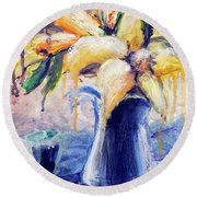 01353 Daffodils Round Beach Towel