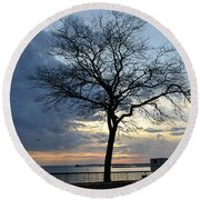 018 April Sunsets Round Beach Towel