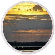 019 April Sunsets Round Beach Towel