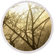 02 Foggy Sunday Sunrise Round Beach Towel