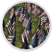 03 Flags For Fallen Soldiers Of Sep 11 Round Beach Towel