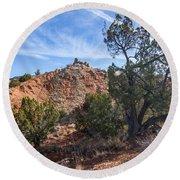 030715 Palo Duro Canyon 043 Round Beach Towel
