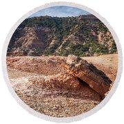 030715 Palo Duro Canyon 049 Round Beach Towel
