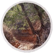 030715 Palo Duro Canyon 066 Round Beach Towel