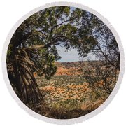 030715 Palo Duro Canyon 092 Round Beach Towel