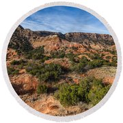 030715 Palo Duro Canyon 018 Round Beach Towel
