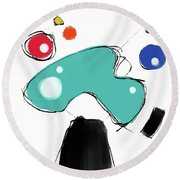 040310ca Round Beach Towel