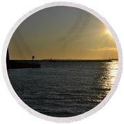 05 Sunset 16mar16 Round Beach Towel