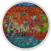 057 Abstract Thought Round Beach Towel