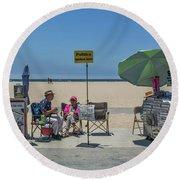 0676- Venice Beach Round Beach Towel