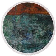 068 Abstract Thought Round Beach Towel
