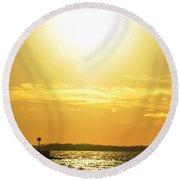 07 Sunset 16mar16 Round Beach Towel