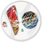 070305ba Round Beach Towel