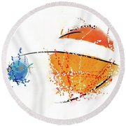 070311aa Round Beach Towel