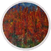 073 Abstract Thought Round Beach Towel