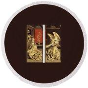 07464 Rogier Van Der Weyden Round Beach Towel