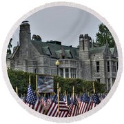 08 Flags For Fallen Soldiers Of Sep 11 Round Beach Towel
