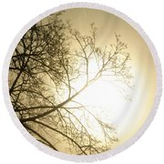 08 Foggy Sunday Sunrise Round Beach Towel