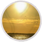 08 Sunset 16mar16 Round Beach Towel