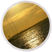 09 Sunset 16mar16 Round Beach Towel