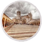 0954 Assisi Italy Round Beach Towel