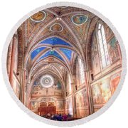 0957 Basilica Of Saint Francis Of Assisi Round Beach Towel
