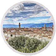 0960 Florence Italy Round Beach Towel