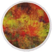 0970 Abstract Thought Round Beach Towel