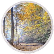 0983 Starved Rock Colors Round Beach Towel