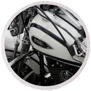 1 - Harley Davidson Series  Round Beach Towel