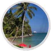 Phuket Thailand Round Beach Towel