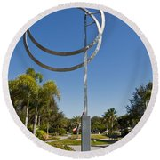 The Vero Beach Museum Of Art In East Central Florida Round Beach Towel