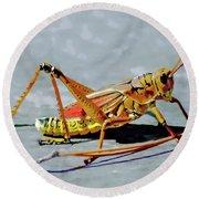 15- Lubber Grasshopper Round Beach Towel