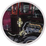 1919 Ford Model-t Round Beach Towel