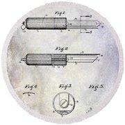 1920 Paring Knife Patent Round Beach Towel