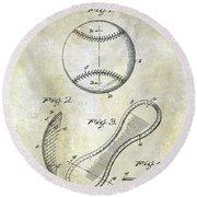 1924 Baseball Patent Round Beach Towel