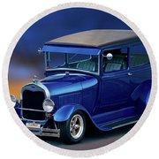 1928 Ford Tudor Sedan II Round Beach Towel