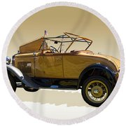 1930 Model A Ford Convertible Round Beach Towel