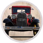 1931 Ford Model A  Round Beach Towel