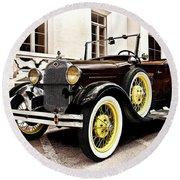 1931 Ford Phaeton Round Beach Towel